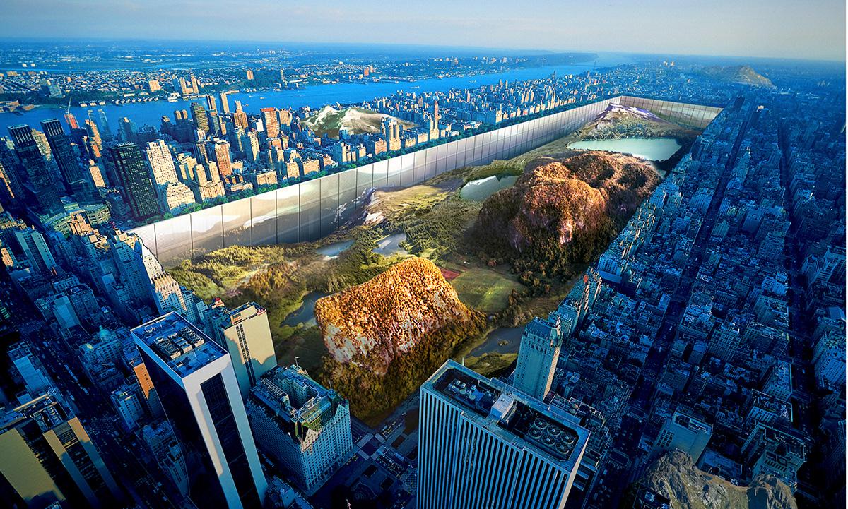 Gratte-ciel horizontal autour de Central Park