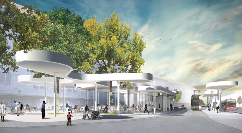 J. Mayer H and architekten pour la conception du nouvel arrêt de tramway à Fribourg