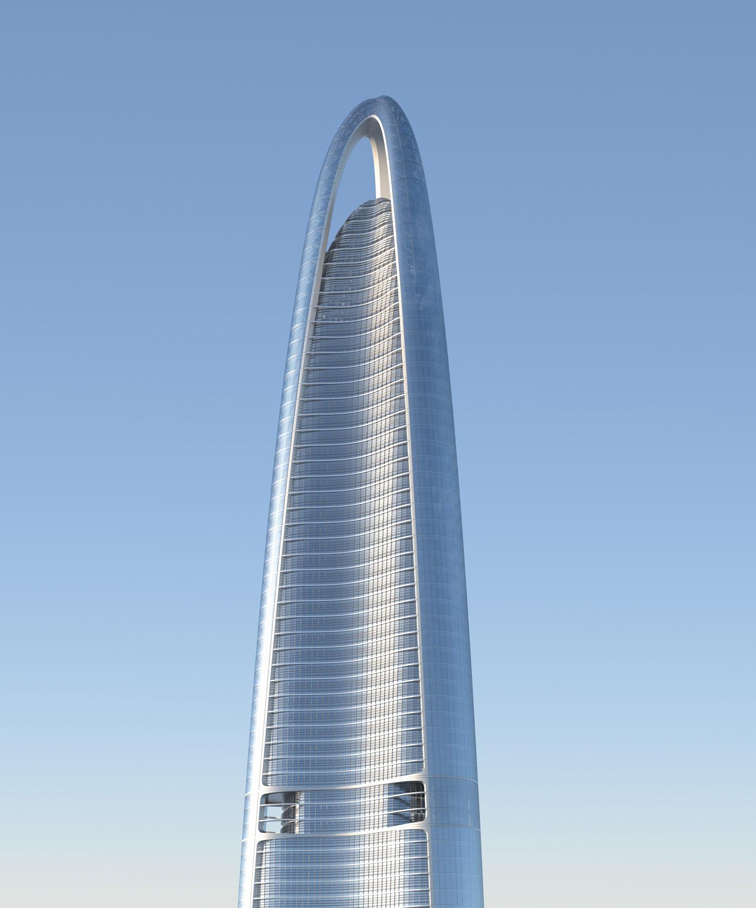 La construction du Wuhan Greenland Center est bien en cours