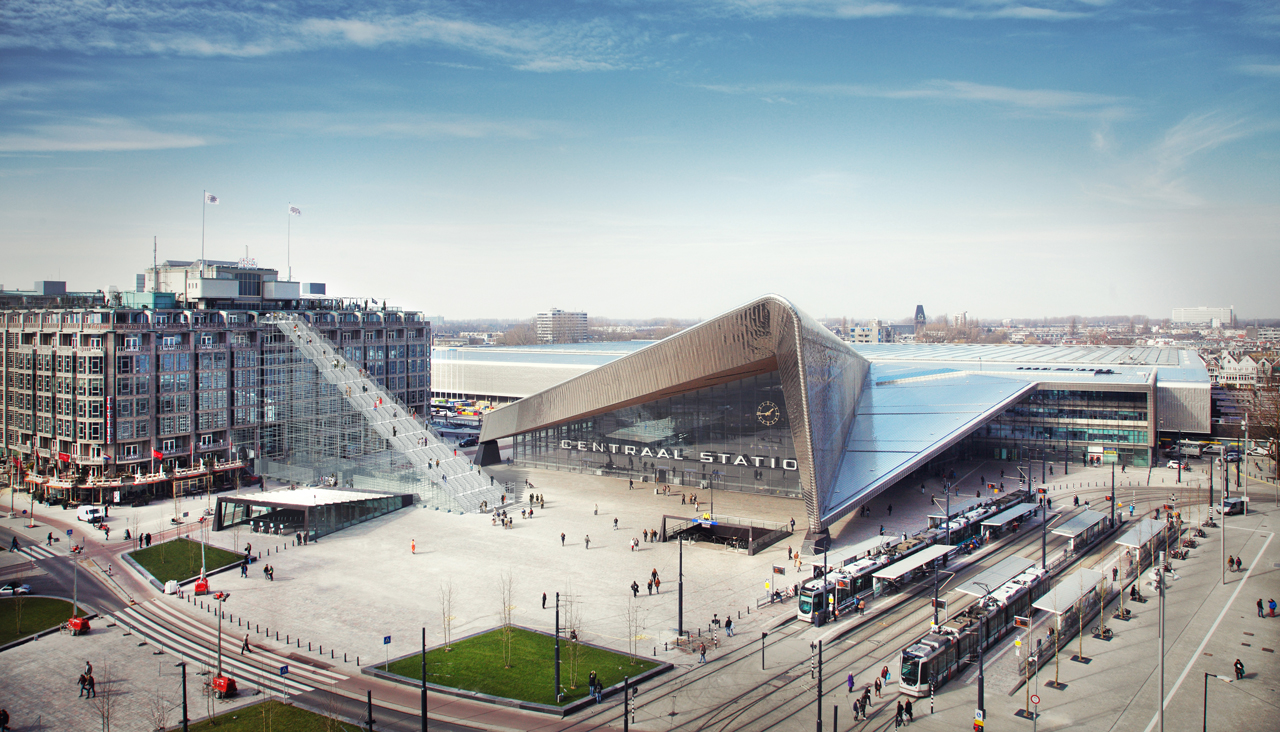 """Les escaliers de """"Rotterdam célèbre la ville!"""" conçus par MVRDV"""