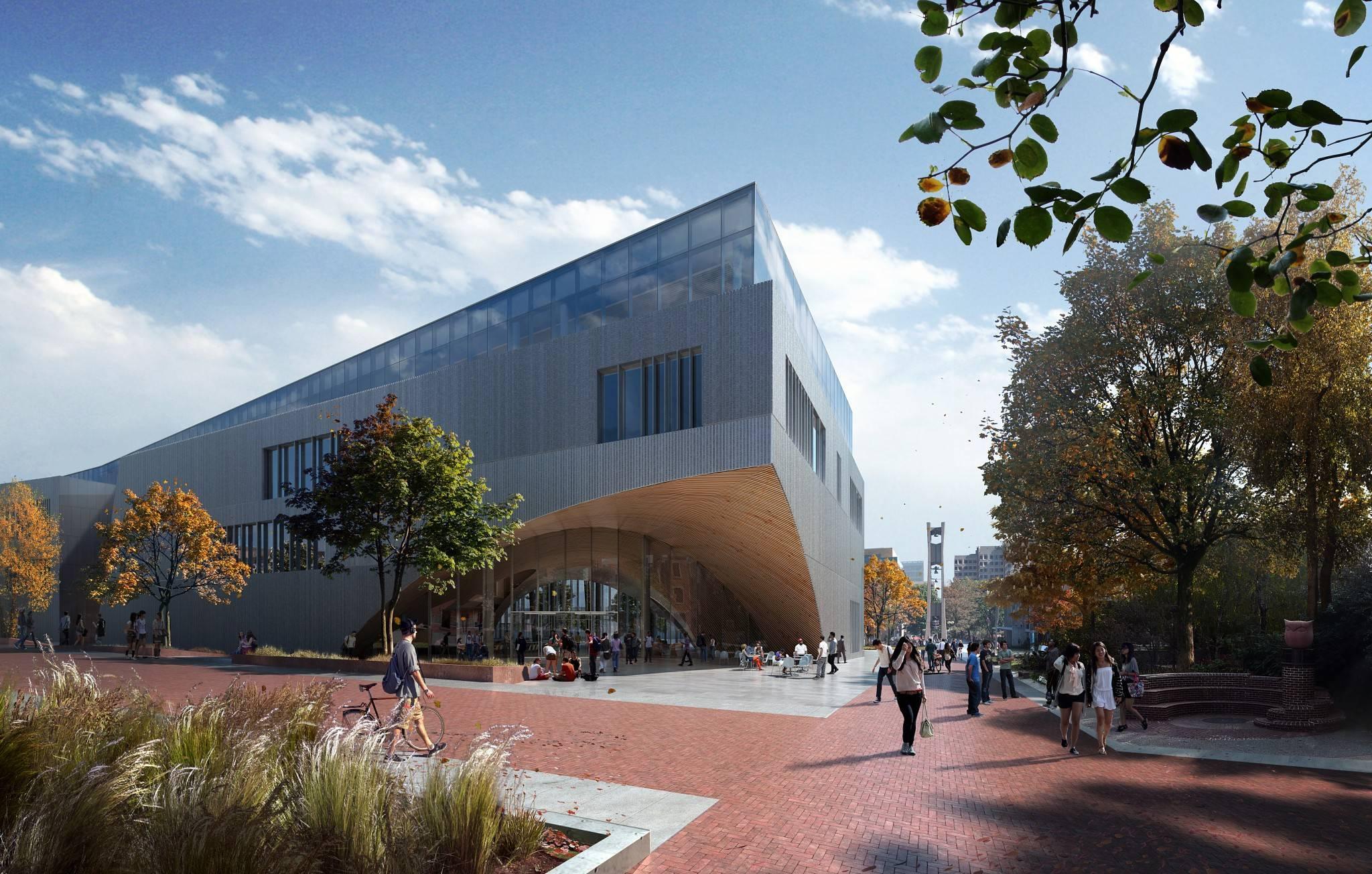 La construction de la bibliothèque de l'Université Temple va bientôt commencer.