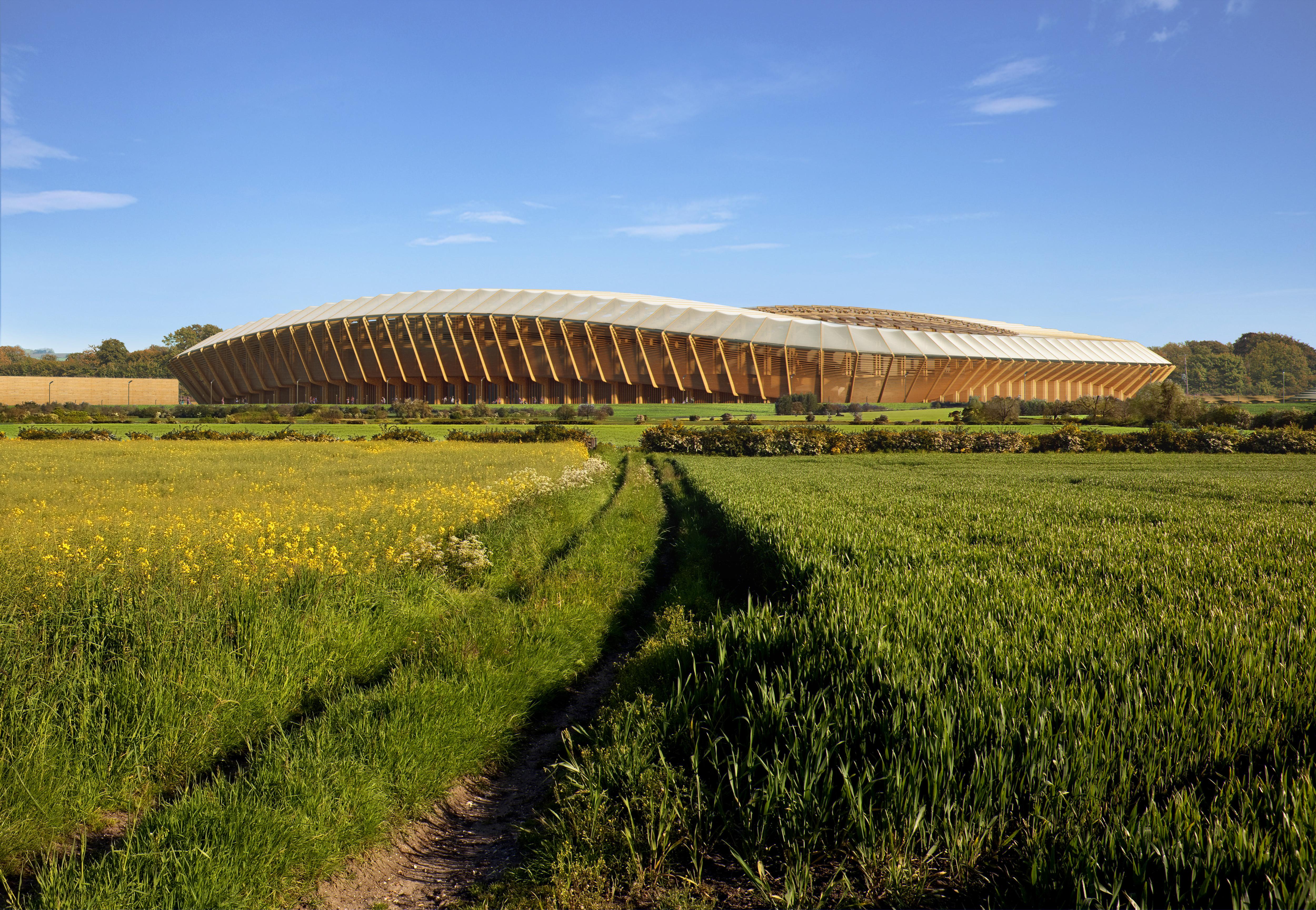Zaha Hadid Architects conçoivent un stade entièrement en bois