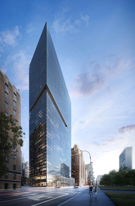 Tour résidentielle en verre noir par Richard Meier à New York