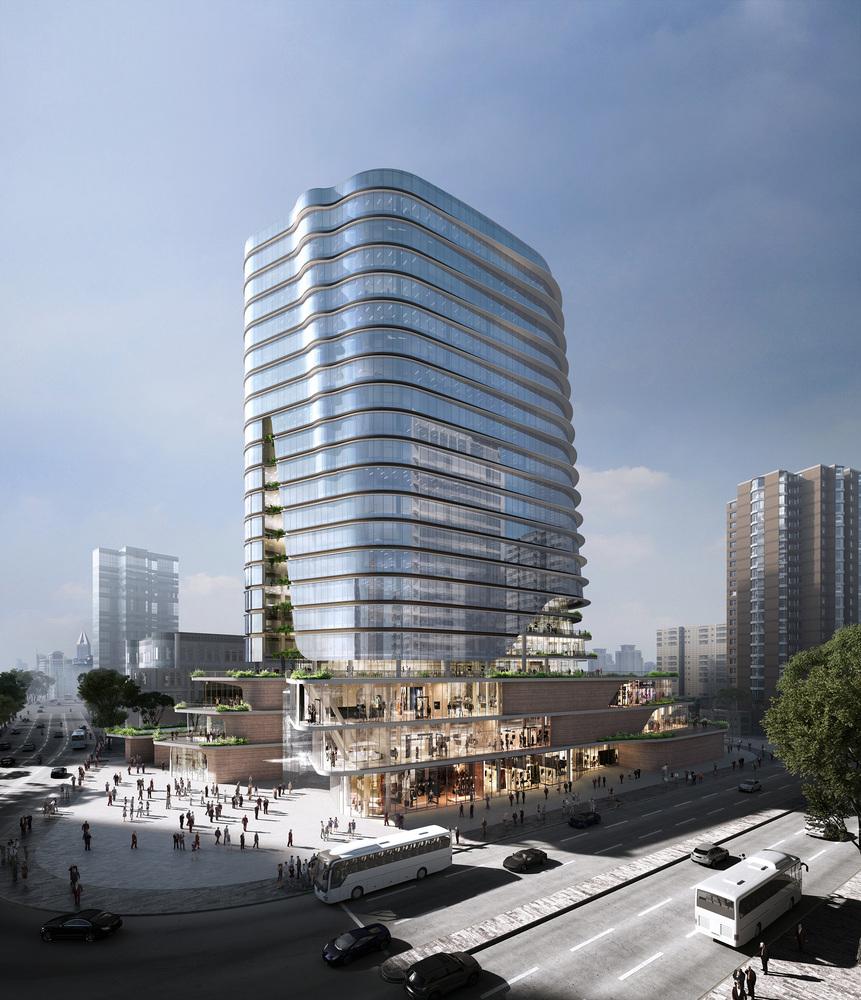 Espace public vertical au cœur de Shangaï par Aedas