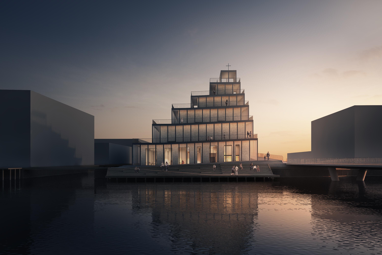 JAJA Architects remportent le concours pour la nouvelle église de Copenhague.