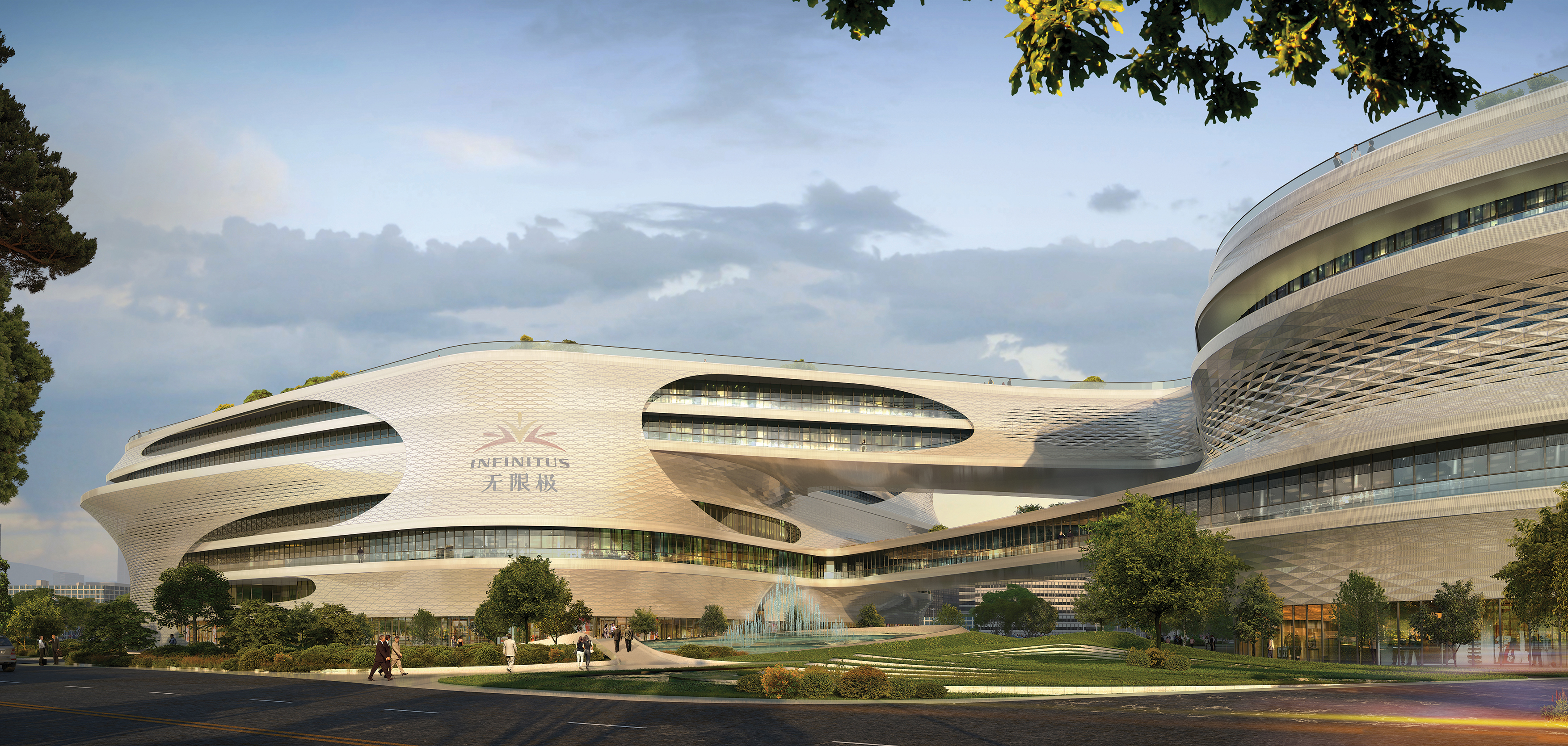 Zaha Hadid Architects dévoilent Guangzhou Infinitus Plaza
