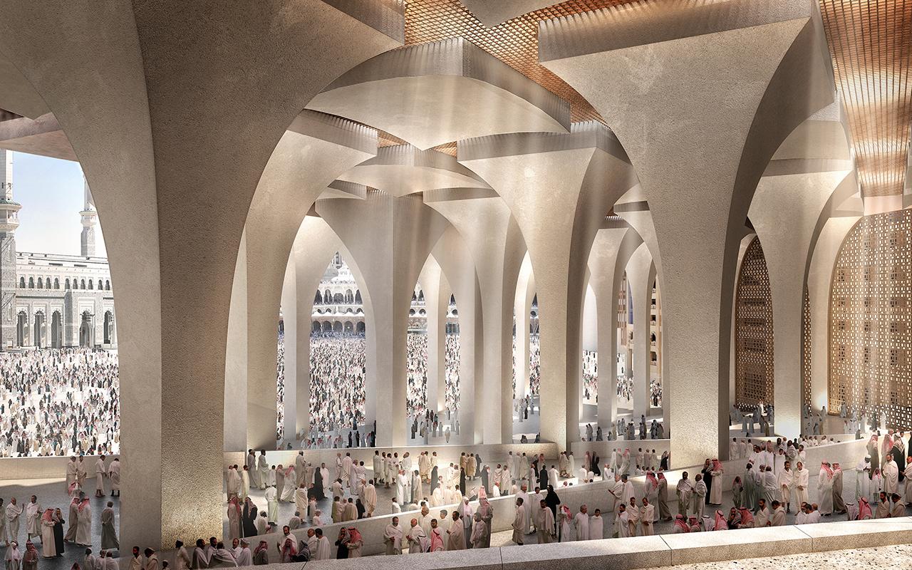 Le complexe en cascade Foster + Partners remporte le concours d'un nouvel hôtel à La Mecque